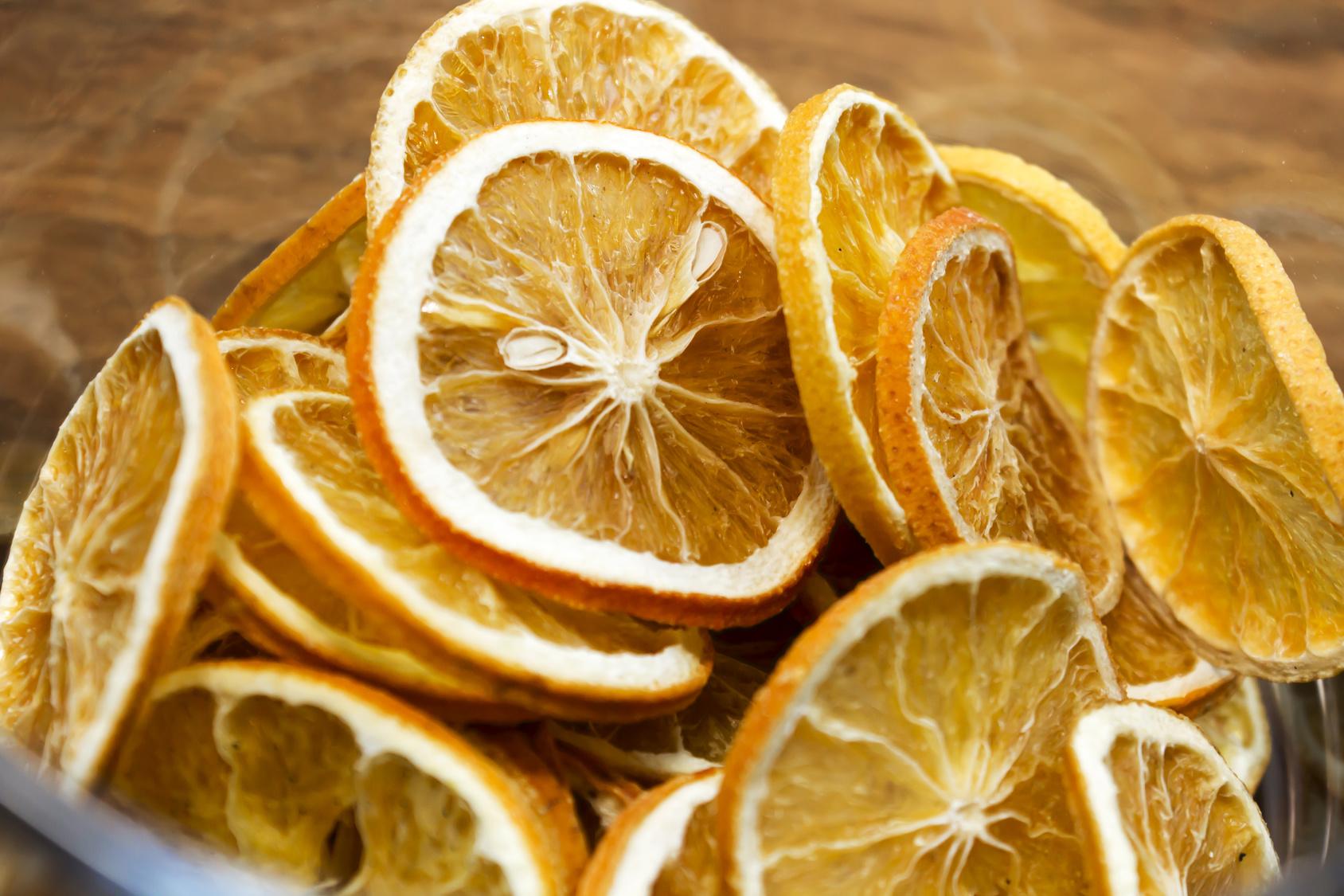 Rodajas de naranja deshidratada